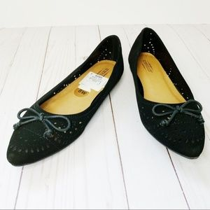 Seychelles Suede Pointed Flats